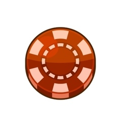 Red Casino Poker Chip Isolated on White Background vector image vector image
