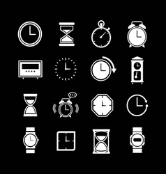 Set icons of clock vector image
