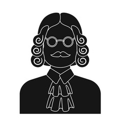 a judge in a wig and glasses a person who makes a vector image