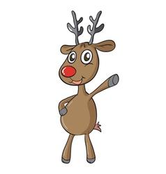 a reindeer vector image vector image