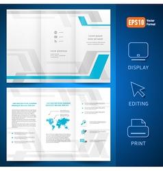 brochure design template folder leaflet geometric vector image