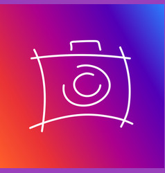 camera icon depicted in an unusual style as if vector image vector image