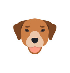 cute dog face with tongue out vector image