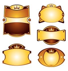 Gold labels set vector image
