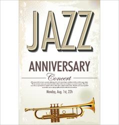 Jazz retro poster vector image vector image