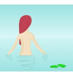 naked girl bathing vector image vector image