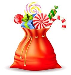 santas sack with gifts vector image vector image