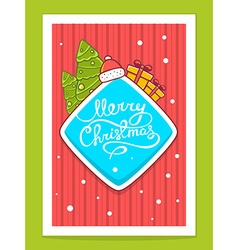 christmas items and hand written text on vector image vector image