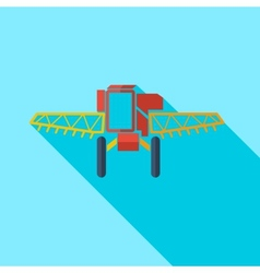 Modern flat design concept icon combine harvester vector image vector image