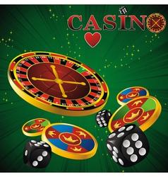 roulette casino green vector image