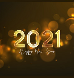 2021 happy new year holiday card vector image