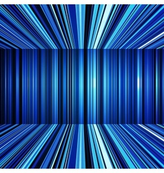 Abstract blue warped stripes background vector image