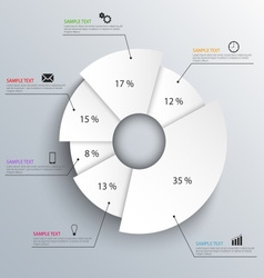 Abstract white info graphic design template vector
