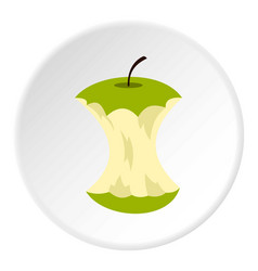 Apple core icon circle vector