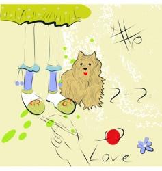 artistic sketch vector image