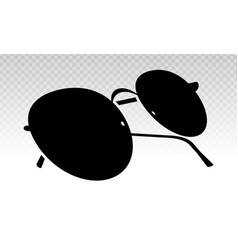 Aviator sunglasses or shades protective eyewear vector