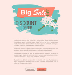 big sale discount and special offer website banner vector image