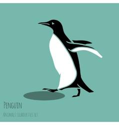 Black and white penguin vector
