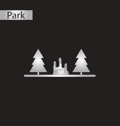 Black and white style icon park vector