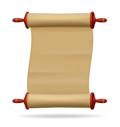 Blank paper text scroll vector