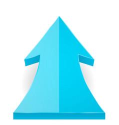 Blue arrow up vector