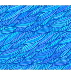 Blue doodle hair seamless pattern vector