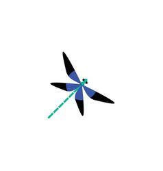 Blue dragonfly logo icon design vector