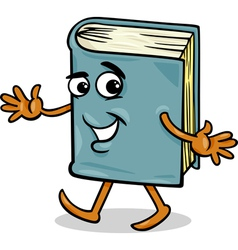 Book character cartoon vector