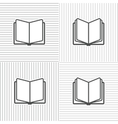 Book icons on stripped background vector image