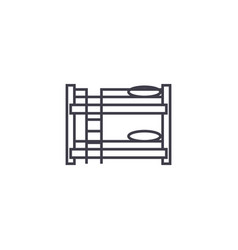 bunk bed line icon sign on vector image