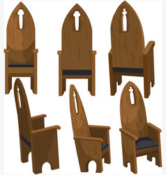 Cathedra church chairs vector