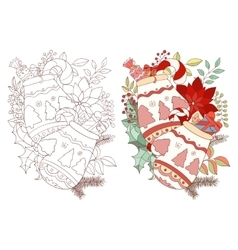 christmas and new year adult drawing gloves vector image