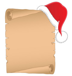 Christmas theme parchment 1 vector