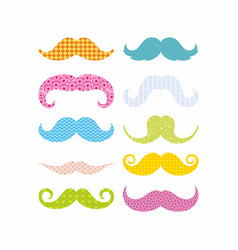 color mustaches vector image