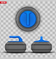 Curling stones equipment vector