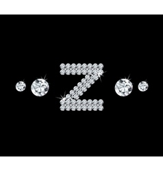 Diamond alphabetic letter z vector