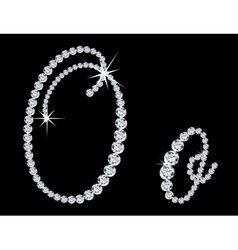 Diamond alphabetic letters o vector