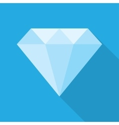 Diamond in a flat style vector