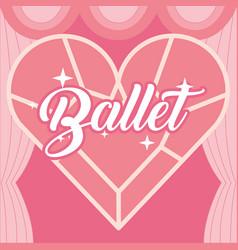 diamond in shape heart jewelry ballet vector image