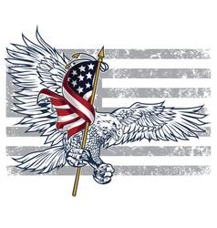 Eagle bird wing annimal usa america illust vector