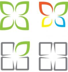ecological symbols vector image