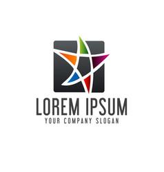 education star logo design concept template vector image