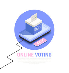 elections concept vector image