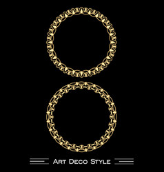 Elegant antiquarian golden circle frames in art vector
