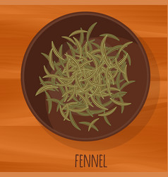 fennel flat design icon vector image