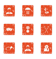 feud icons set grunge style vector image