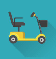 Flat style mobility scooter icon vector