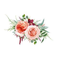floral bouquet design blush peach juliette rose vector image