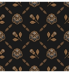 floral seamless pattern Roses line art vector image