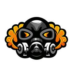 Gas mask logo vector